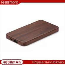2015 New Design Popular Wooden Fashion Portable Mobile Power Bank 3000/4000/5000/8000mah