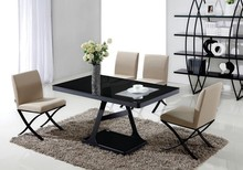 Sand pained steel frame modern dinning table