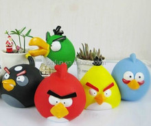 squeaky pvc bird vinyl toy for kids,custom funny Screaming plastic toy,cute plastic squeezable plastic toys