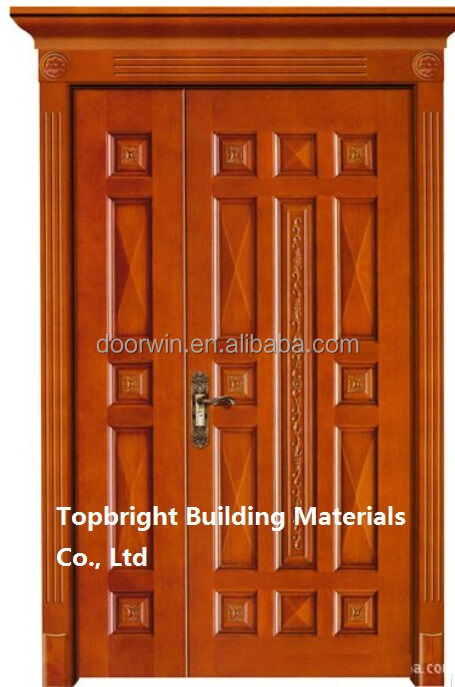 Villa luxury interior teak wood frame panel door design models for Plain main door designs