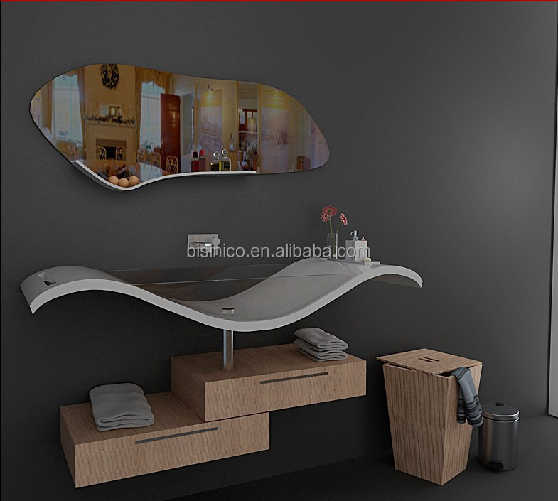 Moderno de pie bathtub, muebles de baño de piedra artificial, de ...