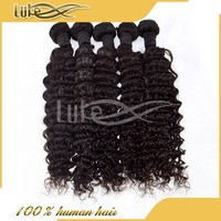 Wholesale high quality Brazilian human hair weave deep wave make your own hair accessories
