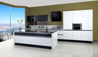 Made in China high gloss white kitchen cabinet