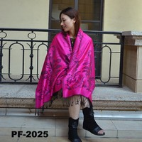 Heated cheap jacquard shawl
