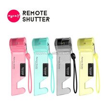 portable mini sized Wireless Bluetooth Selfie Shutter frequency copy remote shutterselfie stick