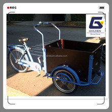 china bakfiets electric motorized cargo tricycle passenger with cabin box factory