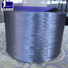 dope dyed 100% polyester virgin textured yarn trilobal super bright yarn