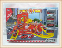 2015year hot sell fire fight alloy car parking toy