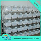 2015 venda quente de aço inoxidável rato gaiola prateleira para ratos reprodução