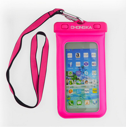hot selling pvc waterproof cellphone bag/waterproof smartphone cases for smartphone