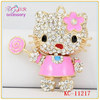 Fashion cute kitty cat shaped crystal keychain for girls