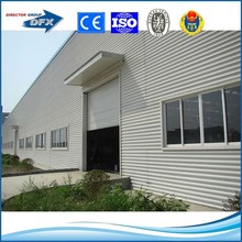 dfx brand painting or hot galvanized steel structure prefabricaed warehouse