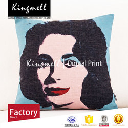 2015 Custom Made High Quality Digital portrait British seat sofa cushion cover