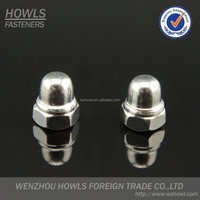 Hign quality carbon steel DIN986 cap nut with nylon insert / welded nylon cap nut