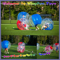 Most popular inflatable body zorb suit for soccer