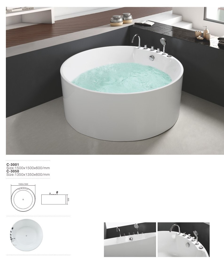 1500mm Portable For Adults Two Person Free Standing Soaking Tub ...