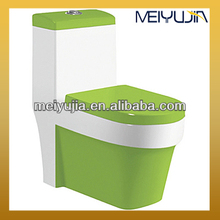 Bathroom Ceramic Black/Red/Green/Yellow Color Siphonic One-piece Toilet