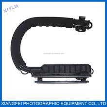 U Shape DSLR SLR Camera DV Camcorder Video Flashlight Action Stabilizer Grip Handle Holder flash Bracket