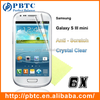 Screen Protector For Samsung Galaxy S3 Mini I8190 , Best Price 6PCS Mobile Screen Protector