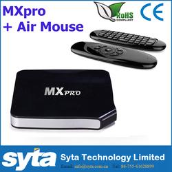2015 Hot Sale MXpro Smart TV Box Android 4.4 Amlogic S805 Quad Core 1G/8G KODI TV BOX+WIFI MOUSE Keyboard With microphone