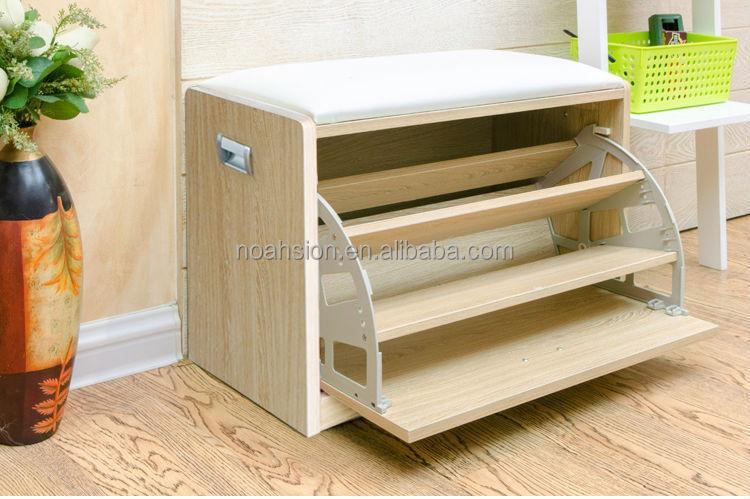 ... Cabinet/shoe Rack In Wood. 2