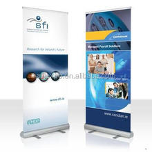 Telescopic advertising roll up banner stand