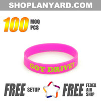 Gifts & Crafts Silicone Custom Wristband Debossed