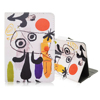 Graffiti Cartoon Pattern Folio Stand Leather Case for iPad Mini
