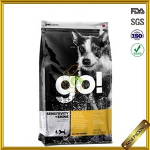 standing up dog food packaging bag with zipper