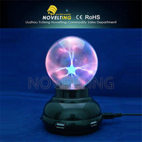 Table Craft USB Powered battery operated plasma ball,plasma magic ball,big plasma ball