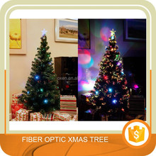 6 FT ARTIFICIAL GREEN PRE-LIT MULTI COLOR LED FIBER OPTIC CHRISTMAS TREE WITH STAR TOPPER