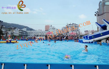 Removable children PVC aquatic park include swimming pool, water slide, inflatable water toys