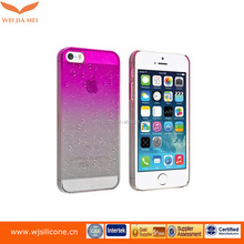 Gradual color mobile case pc basic cover for iphone 5 case