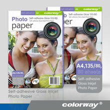 A4 Quality Self Adhesive High Glossy Sticker Photo Paper for Inkjet Printer (sheet & roll, water glue, high stickiness)
