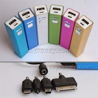 SINOTEK Aluminum alloy Square tube 2200mah external battery power bank