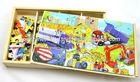 4*28 peças de engenharia de veículos puzzles, enigmas educacionais, 112 peças de quebra-cabeças de madeira,