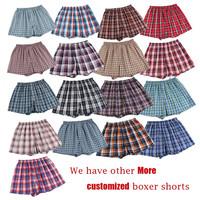 Cheap!!!! Classic Plaid Men Boxer Shorts mens underwear trunks Cotton Cuecas Underwear boxers