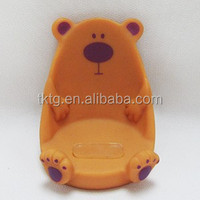 plastic bear handset seat, mobile phone holder