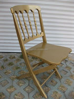 Gold Solid Wood Folding Napoleon Chair/Wedding Chair