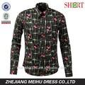Corpo dos homens fit personalizado vestido de algodão de impressão camisa dos homens camisa do smoking homens vestuário