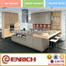2015 new fashion melamine kitchen cabinet furniture
