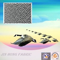 Fashion woven big herringbone white/silver/black polyester/wool/acrylic/viscose/nylon/other blend fabric for clothing