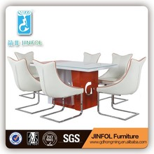 import furniture from china dining room furniture orange white dining table dining chair CT331 & CY331