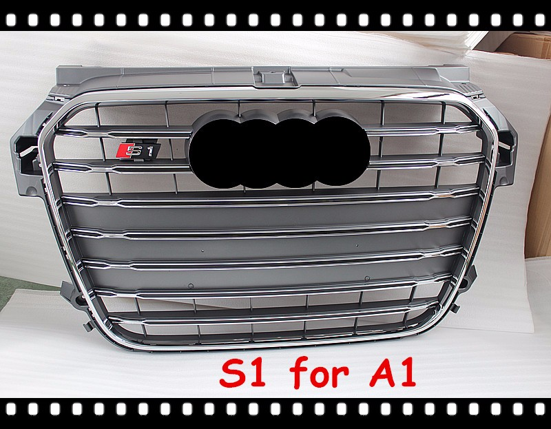 auto grill s1 front grille for audi a1 car abs grille. Black Bedroom Furniture Sets. Home Design Ideas