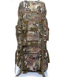 2015 hot selling army hiking canvas backpack for men