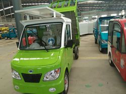 factory sell solar electrical van cargo tricycle with long distance
