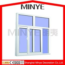 Conch brand profile PVC sliding window with plastic steel
