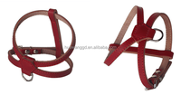 New Pet Products Adjustable Soft Belt Leather Strap dog puppy harness