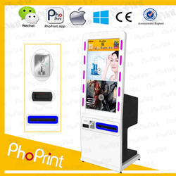 42 inch hd screen public information kiosk/wifi wireless lcd advertising printer/instagram vendding sale