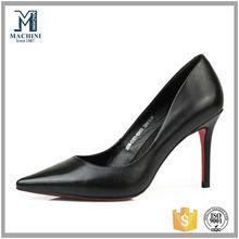 Guangzhou port womens leather dress shoes high heel